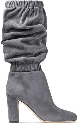 Jimmy Choo MAXYN 85 Dusk Suede Knee Boots