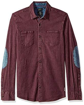 Buffalo David Bitton Men's Sagaw Long Sleeve Full Button Down Shirt