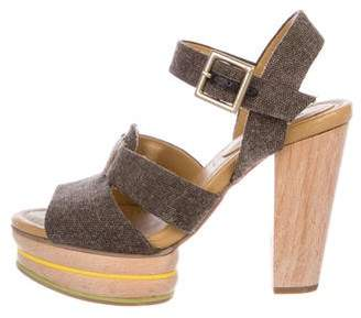 See by Chloe Wood & Canvas Sandals