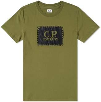 C.P. Company Stitch Block Logo Tee