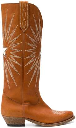 Golden Goose embroidered knee-length boots