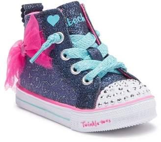Skechers Shuffle Light Bow Hi-Top Sneaker (Toddler & Little Kid)