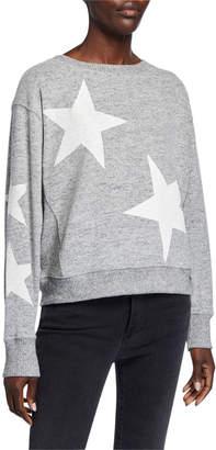 Sweet Romeo Jumbo Star Dolman-Sleeve Sweatshirt