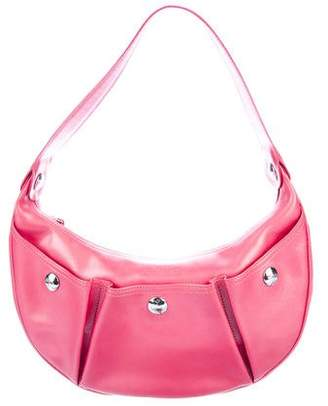 Longchamp Leather Studded Hobo