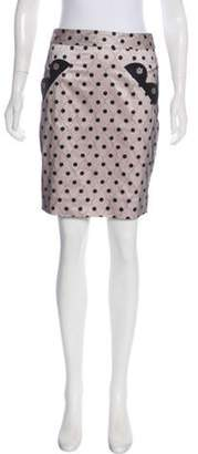 Marc Jacobs Polka Dot Pencil Skirt Pink Polka Dot Pencil Skirt