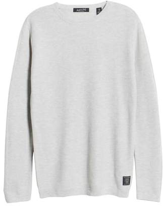 Scotch & Soda Snow Washed Thermal Knit Sweatshirt