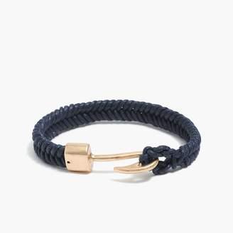 J.Crew Hook and cord bracelet