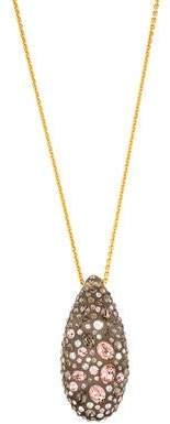 Alexis Bittar Crystal & Lucite Pendant Necklace