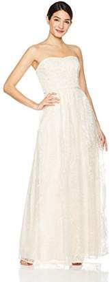 Social Graces Women's Sequin Embroidery Lace Strapless Evening Dress