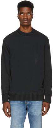 Diesel Black S-Bay-Zip Sweatshirt