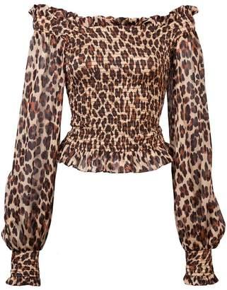Caroline Constas leopard print blouse