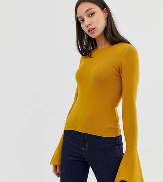 Asos Tall DESIGN Tall skinny crew neck sweater with flared sleeve