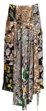 3.1 Phillip Lim Patchwork Print Silk Skirt