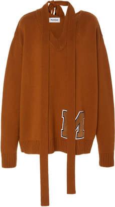 Monse V Neck Tie 'M' Knit Sweater