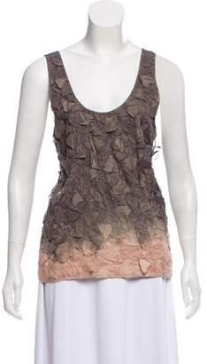 CNC Costume National Textured Silk Top