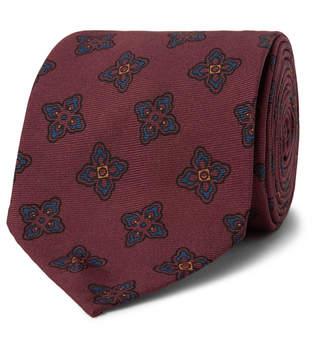 Rubinacci - 7.5cm Floral-Print Silk-Faille Tie