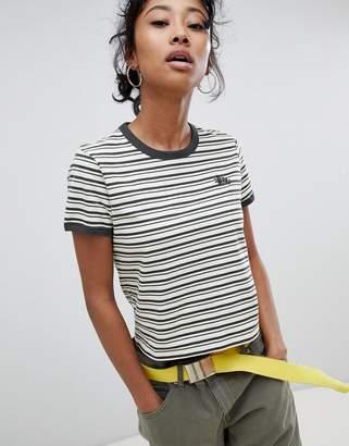 Stussy Ringer T-Shirt In Retro Stripe