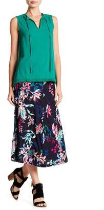 Joe Fresh Floral Flare Midi Skirt