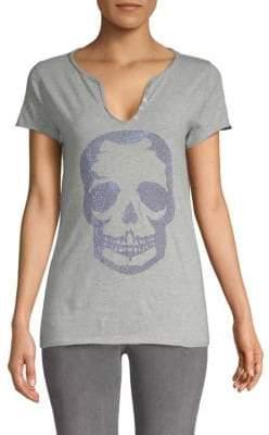 Zadig & Voltaire Tunisien Studded Skull Cotton Tee