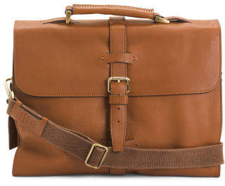 Made In Italy Leather Briefcase
