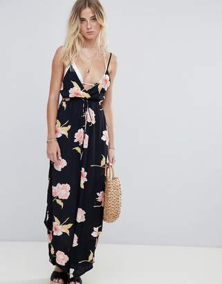Billabong Floral Print Cami Beach Dress