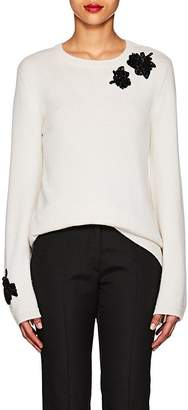 Prabal Gurung WOMEN'S FLORAL-EMBROIDERED CASHMERE SWEATER