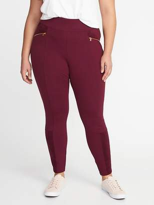 Old Navy Mid-Rise Sueded-Trim Plus-Size Stevie Pants