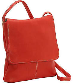 Le Donne Leather Vertical Large Flap-Over Bag