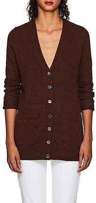 Barneys New York WOMEN'S CASHMERE V-NECK CARDIGAN - BROWN SIZE XS