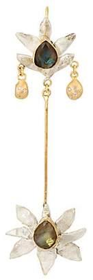 Julie Wolfe Women's Lotus Flower Drop Earring - Gold