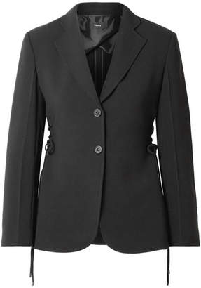 Theory Lace-up Crepe Blazer - Black