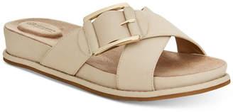 Giani Bernini Balii Slide-On Memory Foam Wedge Sandals, Created for Macy's Women's Shoes
