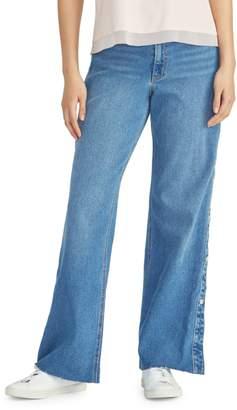 Rachel Roy Wide-Leg Tear Away Jeans