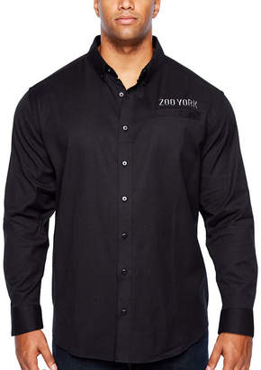Zoo York Long Sleeve Button-Front Shirt-Big and Tall
