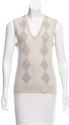 Pringle Argyle Cashmere Top