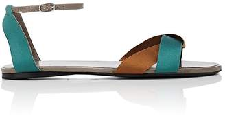 Womens Ribbons Leather & Satin Sandals The Row PagZo7eVs0