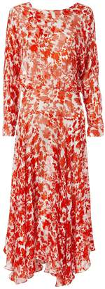 Preen by Thornton Bregazzi Silk Floral Print Dress