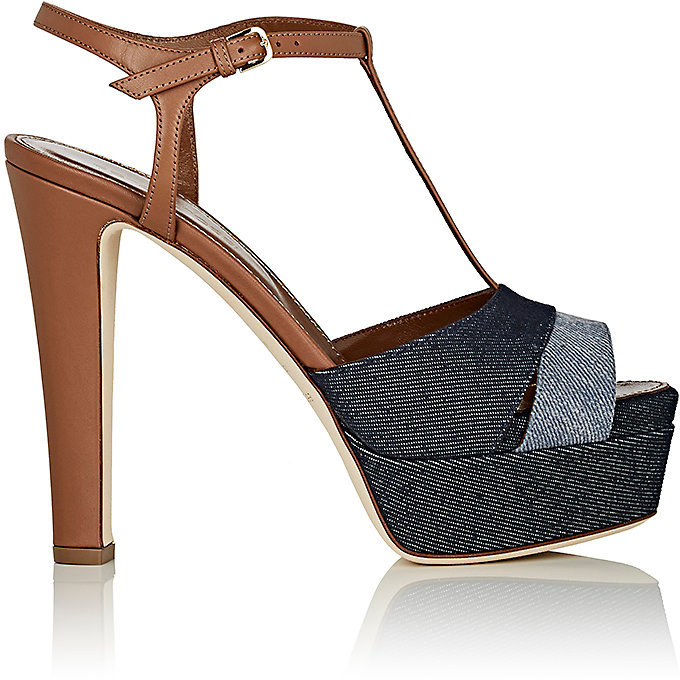 Sergio Rossi Women's Mixed-Material Platform Sandals