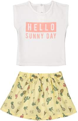 La Redoute Collections Baby T-Shirt and Skirt Outfit, 1 Month-3 Years