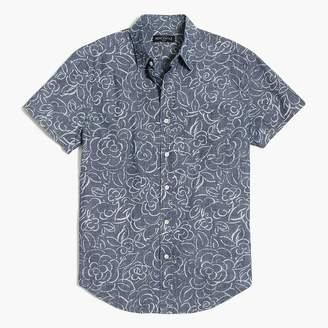 J.Crew Printed slim casual short-sleeve chambray shirt