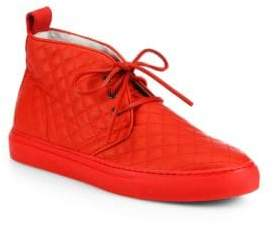Del Toro Quilted Leather Chukka Sneakers