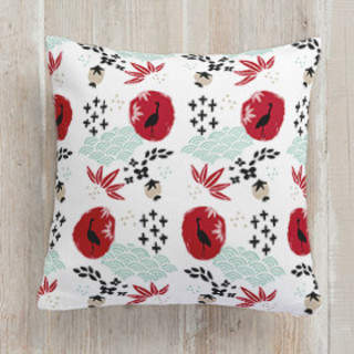Japanese Springtime Square Pillow