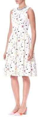 Carolina Herrera Terrazzo Printed A-line Dress