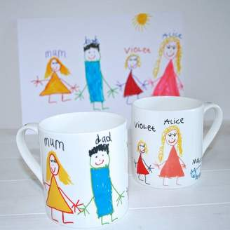 Sparkle Ceramics Personalised Your Child's Drawing Mug