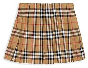Burberry Little Girl's & Girl's Tartan A-Line Skirt