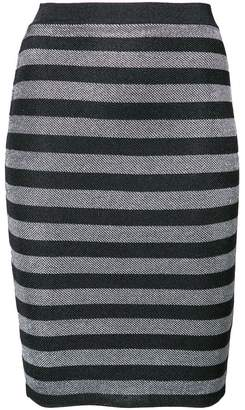 Alexander Wang fitted striped skirt