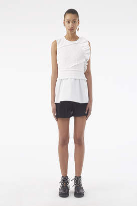3.1 Phillip Lim Ruched Tie-Waist Tank Top