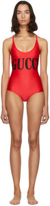 Gucci Red Sparkling One-Piece Swimsuit