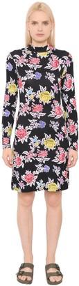House of Holland Rose Printed Viscose Jersey Dress