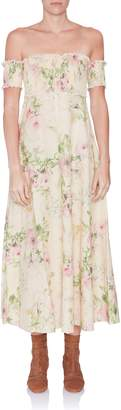 Zimmermann Iris Shirred Bodice Dress